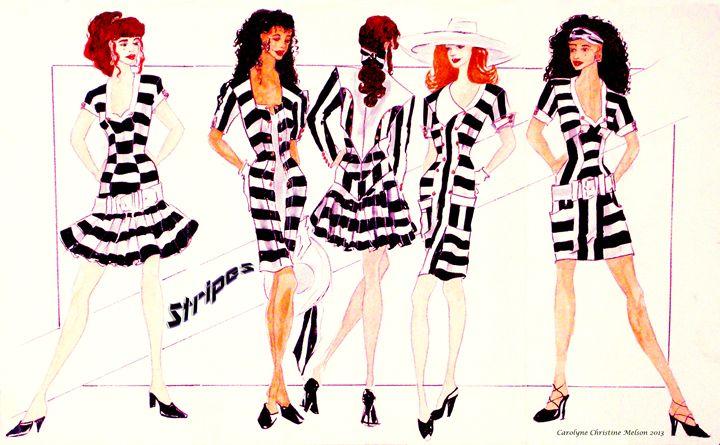 Stripes! - My Naenia Art by Carolyne Christine