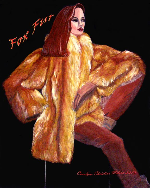 Fox Fur! - My Naenia Art by Carolyne Christine
