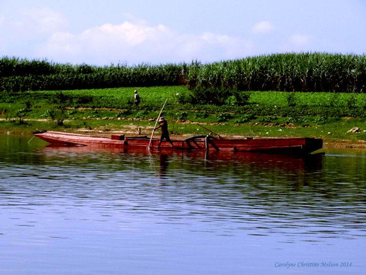 Fishing In Vietnam - My Naenia Art by Carolyne Christine