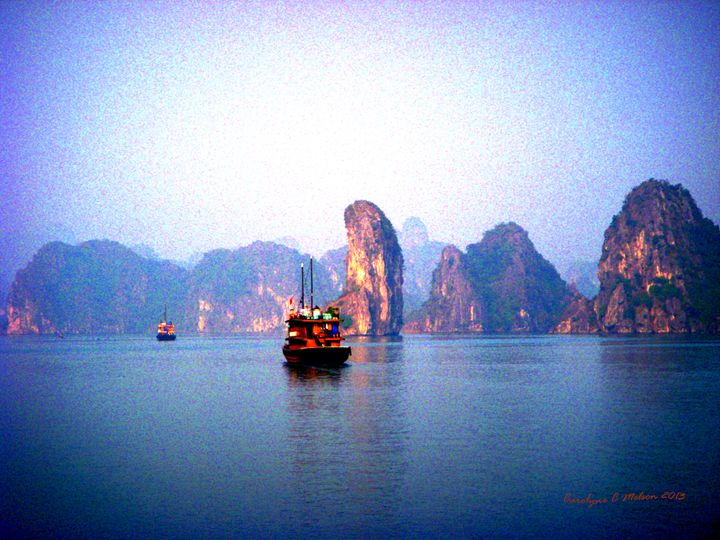 Hal Long Bay in Vietnam - My Naenia Art by Carolyne Christine
