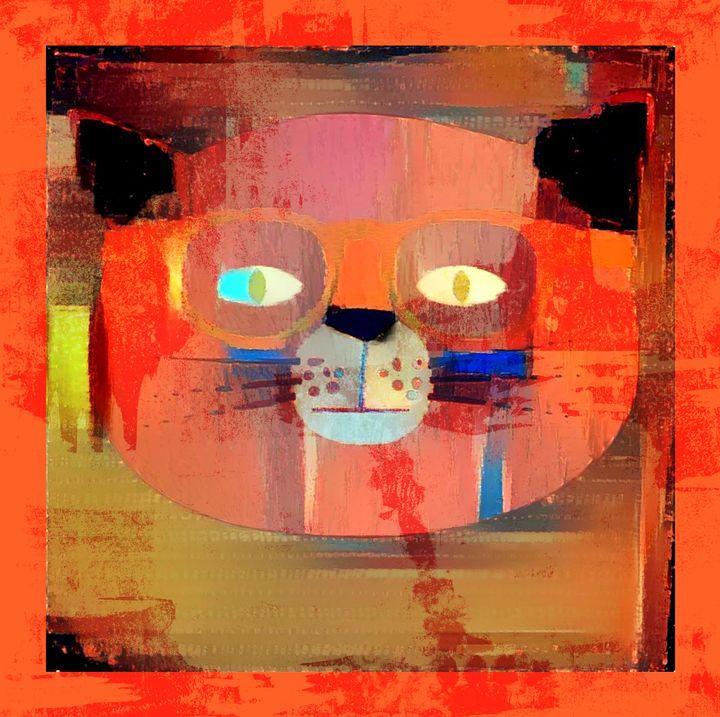 Cat Man Blue - Laxton Studio Art