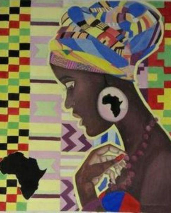 Kente Woman - Artfriq