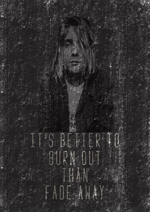 Kurt Cobain Illustration ft quote - The prints loft