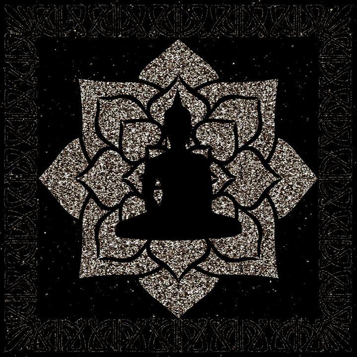 Gold Mandala Buddha Illustration - The prints loft