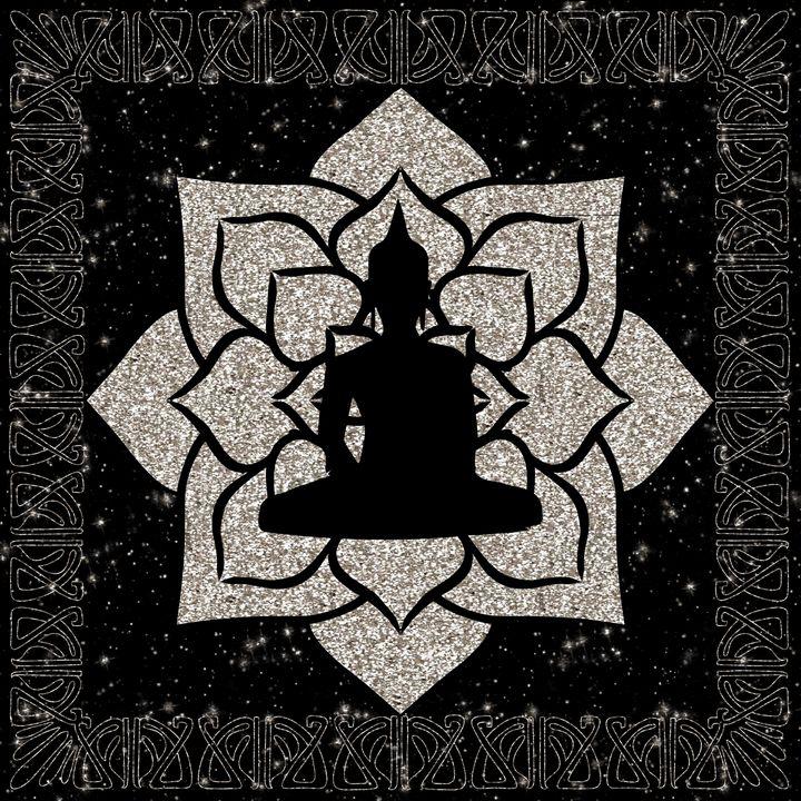 Light Gold Mandala Buddha - The prints loft