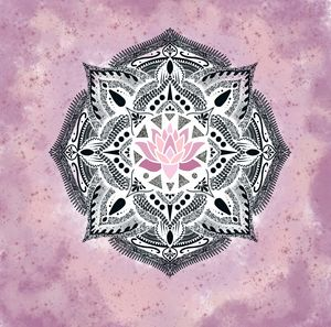Water colour paint lotus mandala