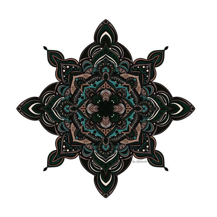 Vintage inverted mandala - The prints loft