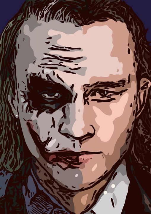 Heath ledger / Joker Illustration - The prints loft