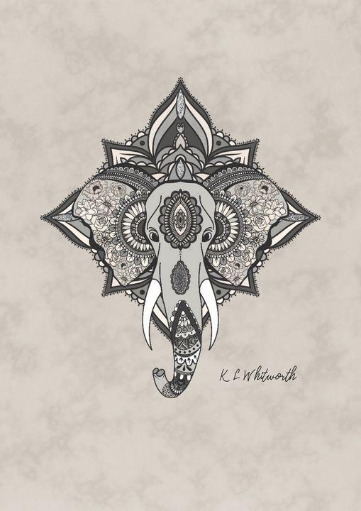Elephant mandala illustration - The prints loft