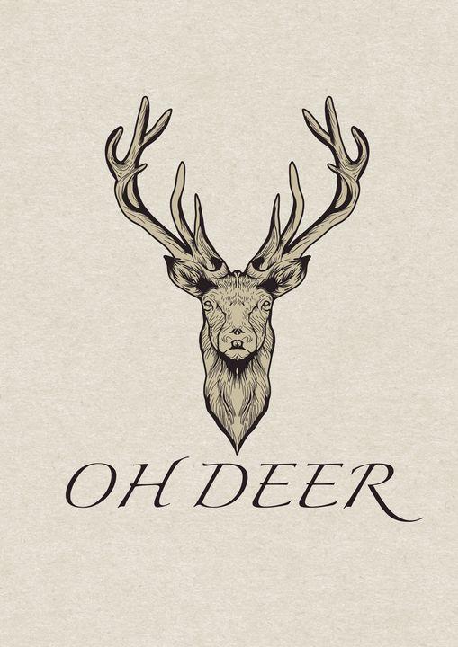 Oh deer artwork - The prints loft