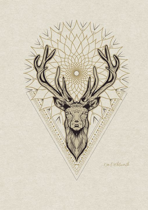 Deer mandala artwork - The prints loft