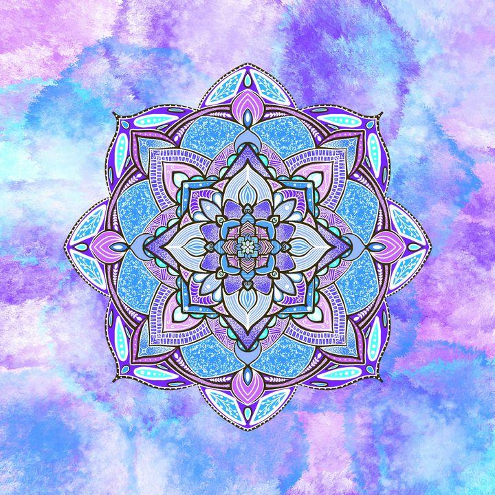 Water Colour Mandala - The prints loft