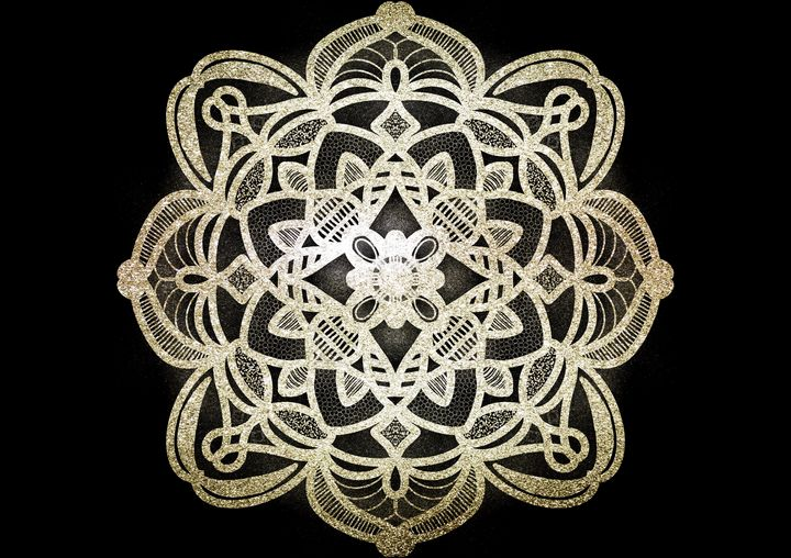 Gold Foil Mandala Art - The prints loft