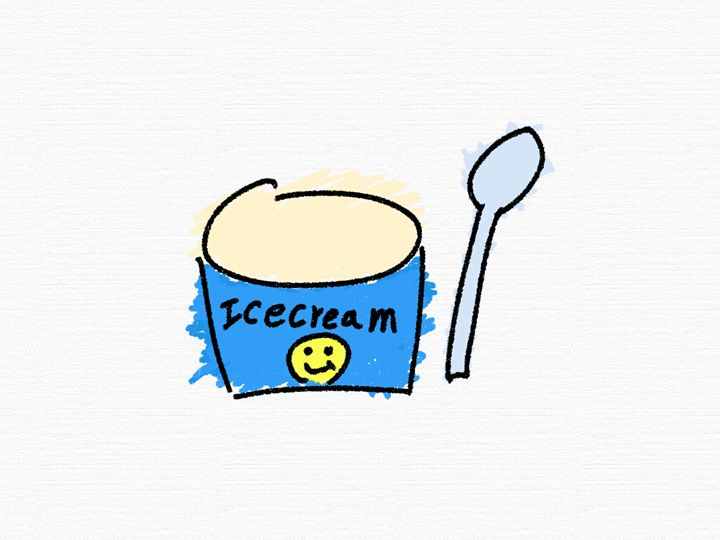 Vanilla Ice Cream and a Spoon - Hiromichi