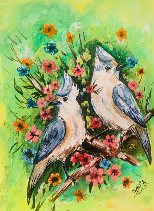 Birds painting - FINE ARTS of M Atif Kakar