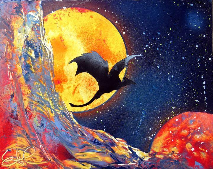Flying Dragon Spray Paint Art - EacArt