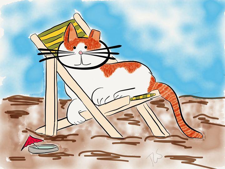 Sunshine Has a Beach Day - Sunshine's Doodles