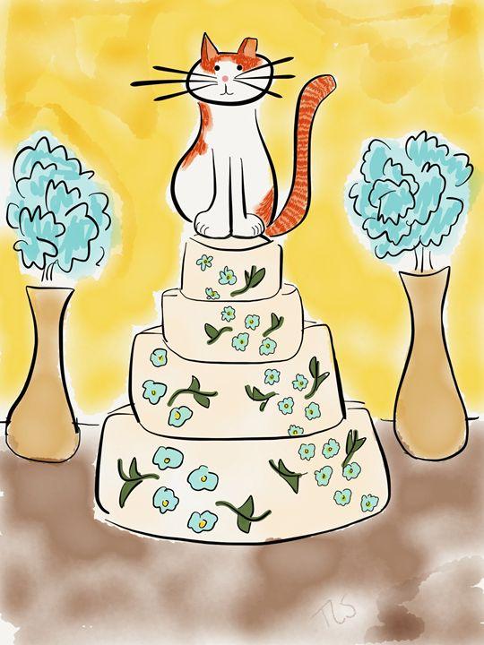 Sunshine Tops the Wedding Cake - Sunshine's Doodles