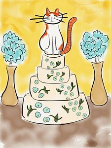 Sunshine Tops the Wedding Cake