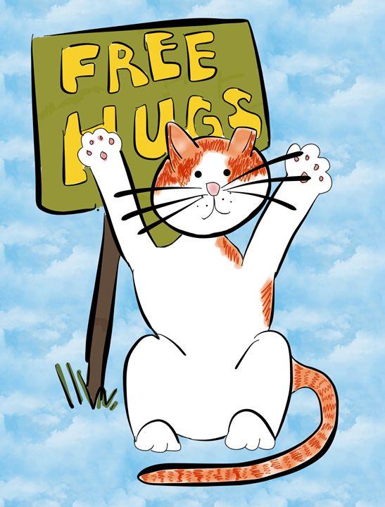 Sunshine Gives Free Hugs - Sunshine's Doodles