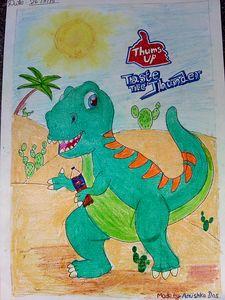 thirsty dinosaur