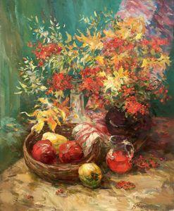 Oil painting Autumn still life