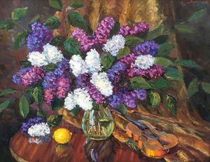 Oil painting Lavender sonnet