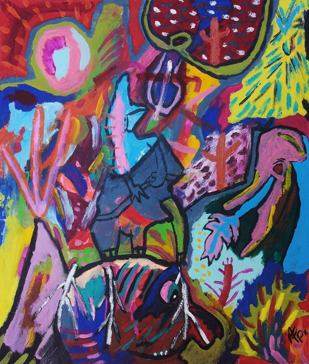 A spectacle with univited guests - Armando F. Poggi (Bolivian Artist)