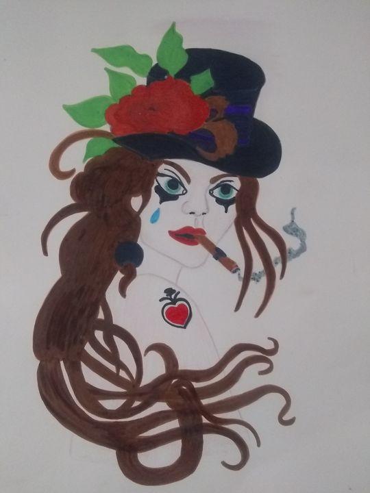Femme poker - Angels creations