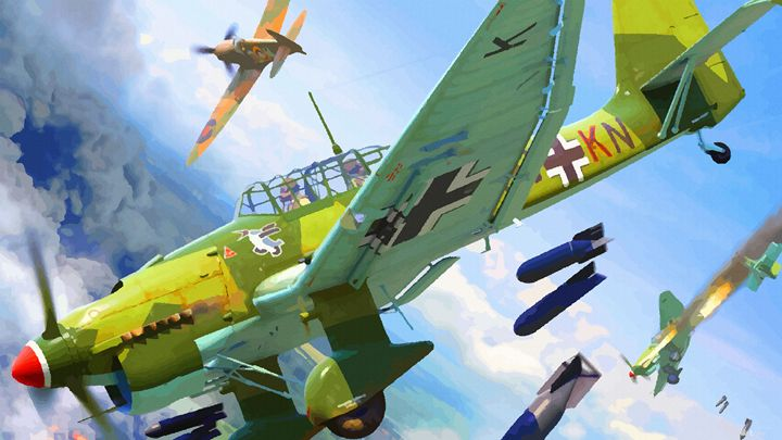 German Divers Stuka Bomber pounding - DonDigitalStudio