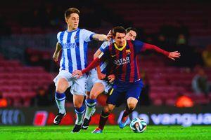 Lionel Messi of FC Barcelona duels f - DonDigitalStudio