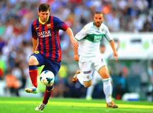 Lionel Messi controls the ball durin - DonDigitalStudio