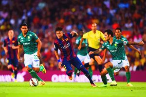 Neymar of FC Barcelona competes