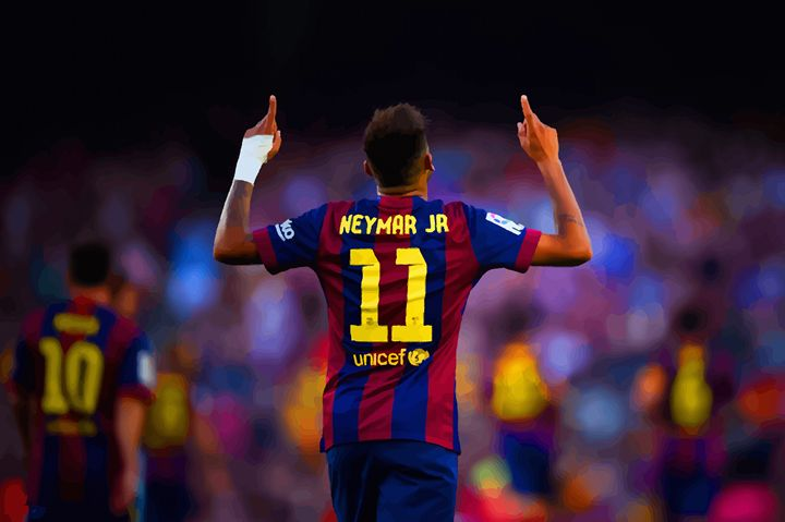 Neymar of FC Barcelona celebrates - DonDigitalStudio
