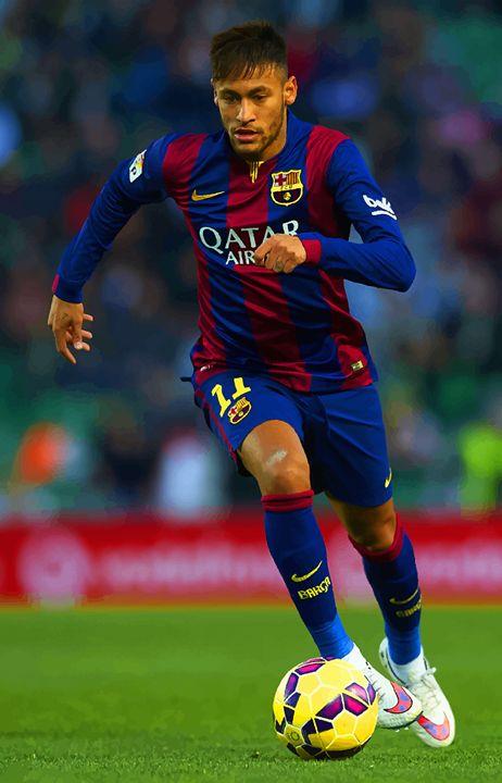 Neymar JR of Barcelona runs with the - DonDigitalStudio