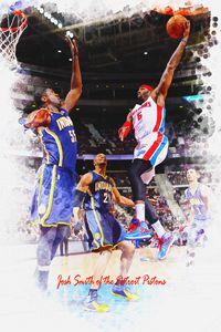 Josh Smith of the Detroit Pistons - DonDigitalStudio