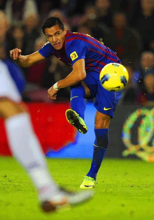 Alexis Sanchez  scores a goal - DonDigitalStudio