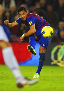 Alexis Sanchez  scores a goal