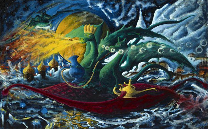 Dragons on a Flying Carpet - Vladimir Astachkine