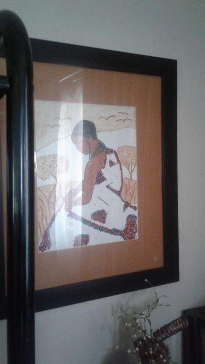 African beads woman - Orah art creations