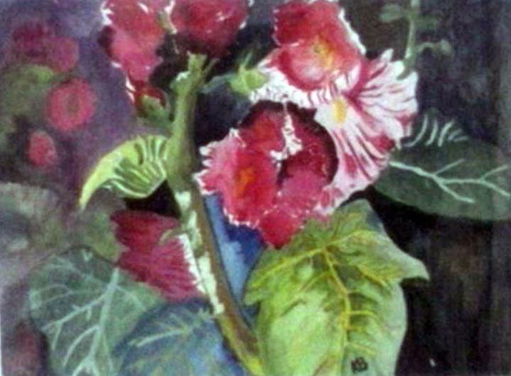 flowers in watercolor - Kryss Originals