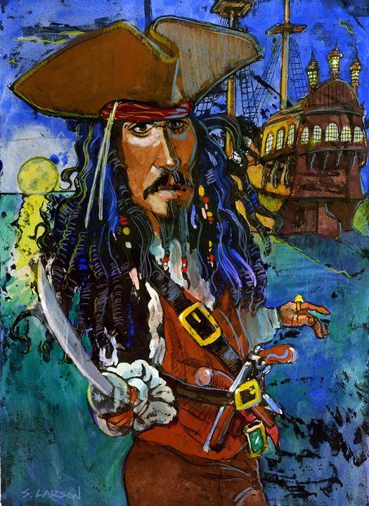 Captain Jack Sparrow - Shane Larson Art
