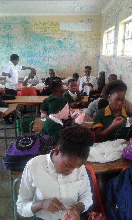 Learners of Art at Work - Vuyo  Makaula Art