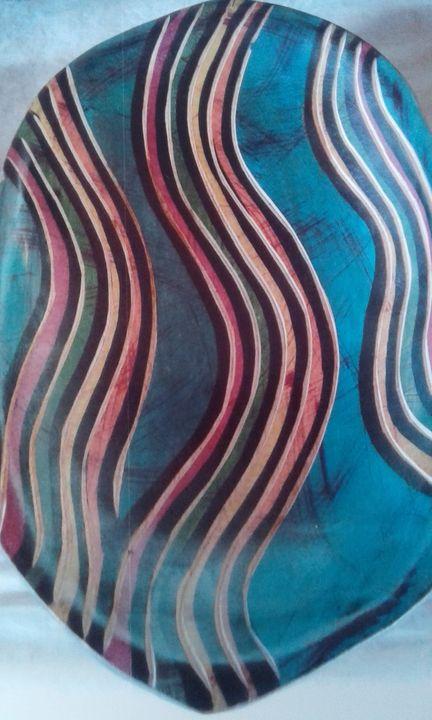 Wooden Tray - Vuyo  Makaula Art
