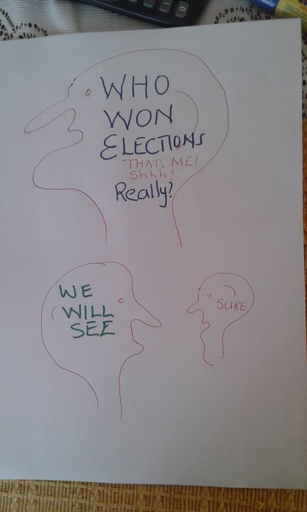 Elections! Elections! Election Blues - Vuyo  Makaula Art