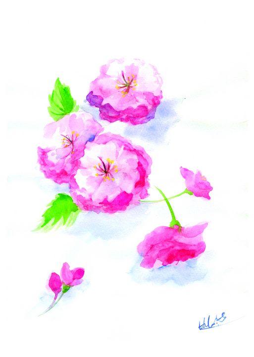 Yae Sakura /Cherry blossom art - HIKARI&