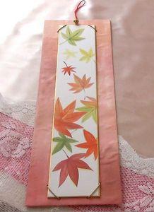 Autumn leaves TANZAKU Wall Art