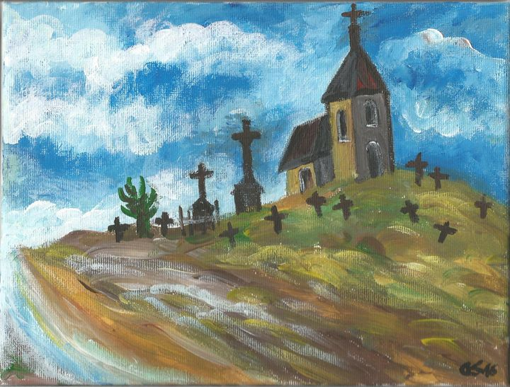 Church and Cemetery - Danka Art
