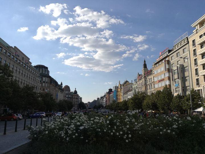 Prague - Wenceslas square - Danciatko