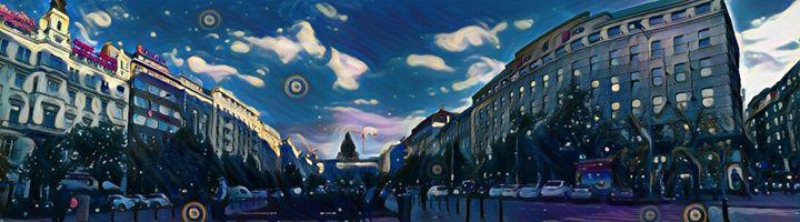 Wenceslas square - Starry night - Danciatko